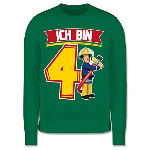 Shirtracer Feuerwehrmann Sam Mädchen - Ich Bin 4 - Sam - 128 (7/8 Jahre) - Grün - Feuerwehrmann Sam - JH030K - Kinder Pullover