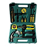 BRAMH 12 In 1 Household Tools Kit - Small Basic Home Tool Set with Plastic Toolbox Set for Emergency Uses Light Duty Brand: Fainlist.