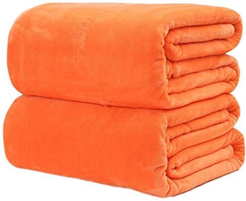 Hundedecke Hundebett Matte,Kuscheldecke Flauschige extra weich & warm Wohndecke Flanell Fleecedecke, Falten beständig/Anti-verfärben als Sofadecke oder Bettüberwurf 50 * 70cm (Orange, 50 * 70)