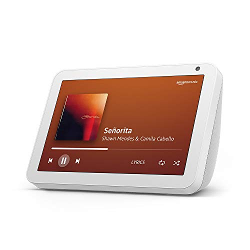 """Introducing Echo Show 8 – Smart display with Alexa - 8"""" HD screen with stereo sound – White"""