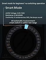 ZT-M0スマートマニュアルデジタルマルチメータLCDディスプレイ6000カウント電圧方形波出力静電容量バッテリーテスターDMM