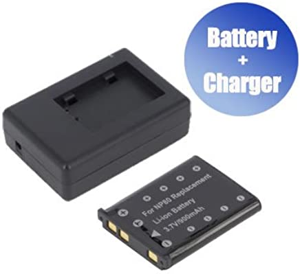 900 mAh Charger Replacement for Casio Exilim ZOOM EX-Z37BK BattPit trade; New Digital Camera Battery