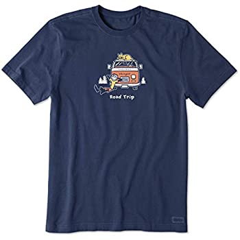 Life is good Men s Mens Vintage Crusher T-shirt Darkest Blue XXXL