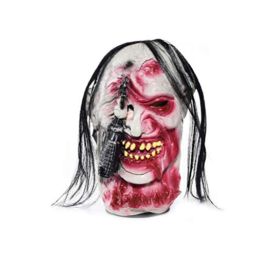 Halloween Zombie Mask Scary Horror Grimace Mask Evil Ghost Head Mask Halloween Costume Accessory for Costume Party Cosplay,B