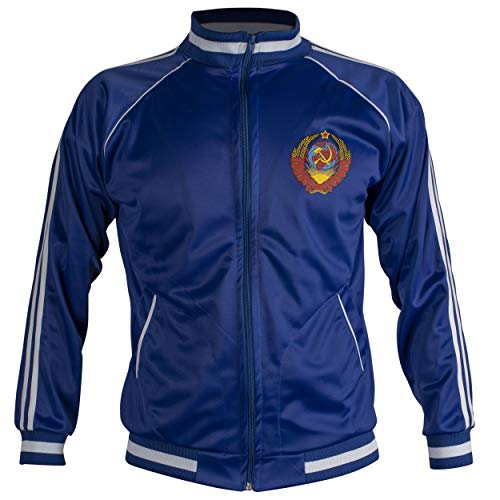 JL Sport Sowjetunion CCCP UDSSR 1970 Jacke Retro Fußball Anzug mit Reißverschluss Jacke - M