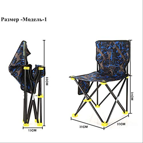 YLCJ Vouwstoel Strandtas Draagbare klapstoel Visserskampeerstoel Lichtgewicht zitting in Oxford-stof Model1
