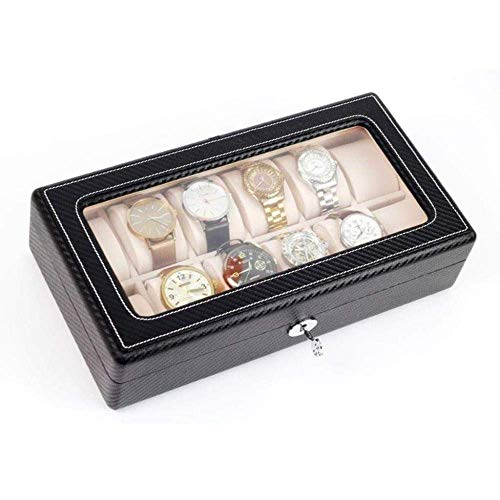 NHLBD Reloj de Almacenamiento Caja de Calidad Caja de Reloj de Cuero Caja de colección Caja de joyería Moda (Color : B)