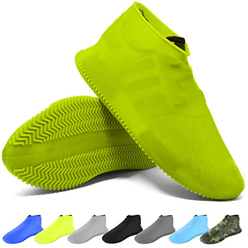 BAYI - Shoe Cover Waterproof Anti Slip Sneaker Silicone Slip-On Rubber Sock Rain Shoes Cover Durable Reusable Boot Rubber Shoe...