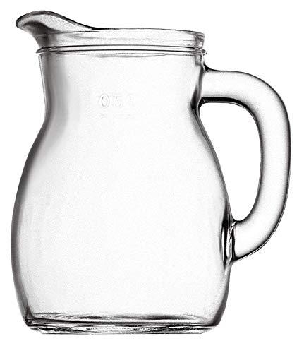 Brocca Caraffa Decanter per vino acqua bevande della Bormioli modello Bistrot capienza 1/2 litro