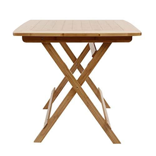 Klaptafel vierkant, massief houten vouwen tafel buiten vrije tijd eettafel computer bureau eenvoudig draagbaar ontbijttafel slaapkamer B 60 cm