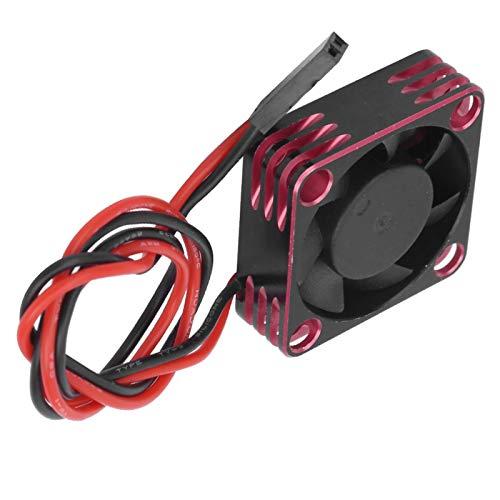 N#A Ventilador de enfriamiento sin escobillas Duradero de Aluminio, Ventilador de enfriamiento sin escobillas, 30x30 mm para Piezas de automóvil RC540(Red)