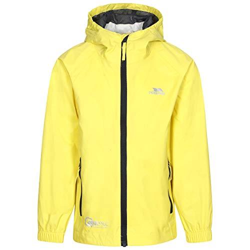 Trespass Qikpac Jacket, Yellow, 9/10, Kompakt Zusammenrollbare Wasserdichte Jacke für Kinder / Unisex / Mädchen und Jungen, 9-10 Jahre, Gelb