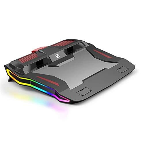 MissLi Enfriador para Computadora Portátil para Juegos Soporte Ajustable para Computadora Portátil, Potente Almohadilla De Enfriamiento De Flujo De Aire para Computadora Portátil De 12-17 Pulgadas