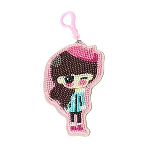 Seawang DIY speciale vormgegeven portemonnee sleutelkaart houder tas diamant schilderij munten portemonnee lederen rits zak clutch tas hangers voor meisje Womens Student Gift