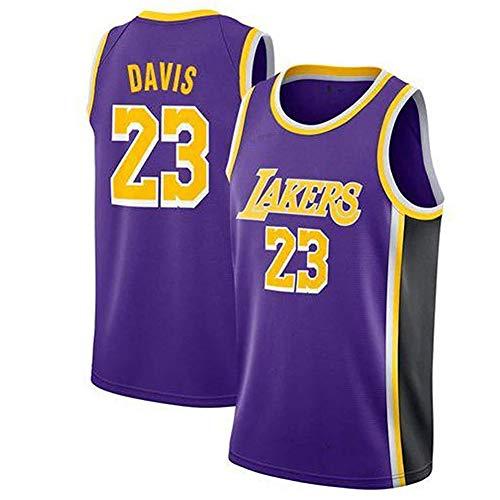 PLLM Camiseta de Baloncesto para Hombre Anthony Davis Lakers 23 Ropa Deportiva para Hombre Ropa de Jugador de Baloncesto