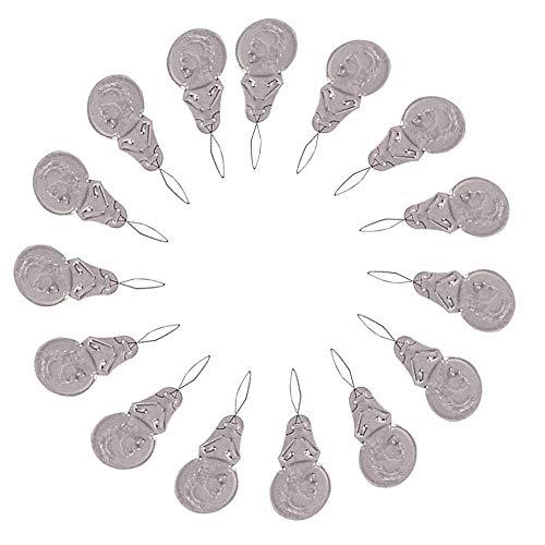 Infila ago da 100 pezzi, aiuto per infilare gli aghi, anello con fibbia in filo d'argento Infila ago fai-da-te per ricamo a mano e punto croce in diversi colori
