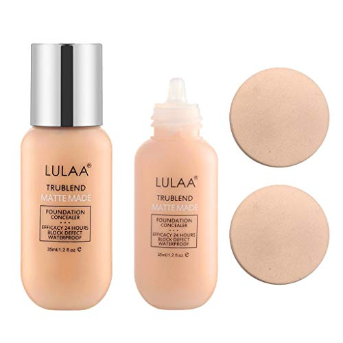 Maquillaje en crema hidratante de base impermeable líquido mate de larga duración profesional (D)