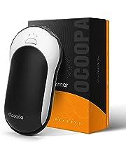 OCOOPA Handwarmers Oplaadbaar, 10000mAh Elektrische Batterij Aangedreven Power Bank, 15hrs Langdurige warmte, 3 niveaus, Perfect voor voetbal, Golf, Jacht, Camping, Vrouwen Mannen, 1-Pack, Zwart