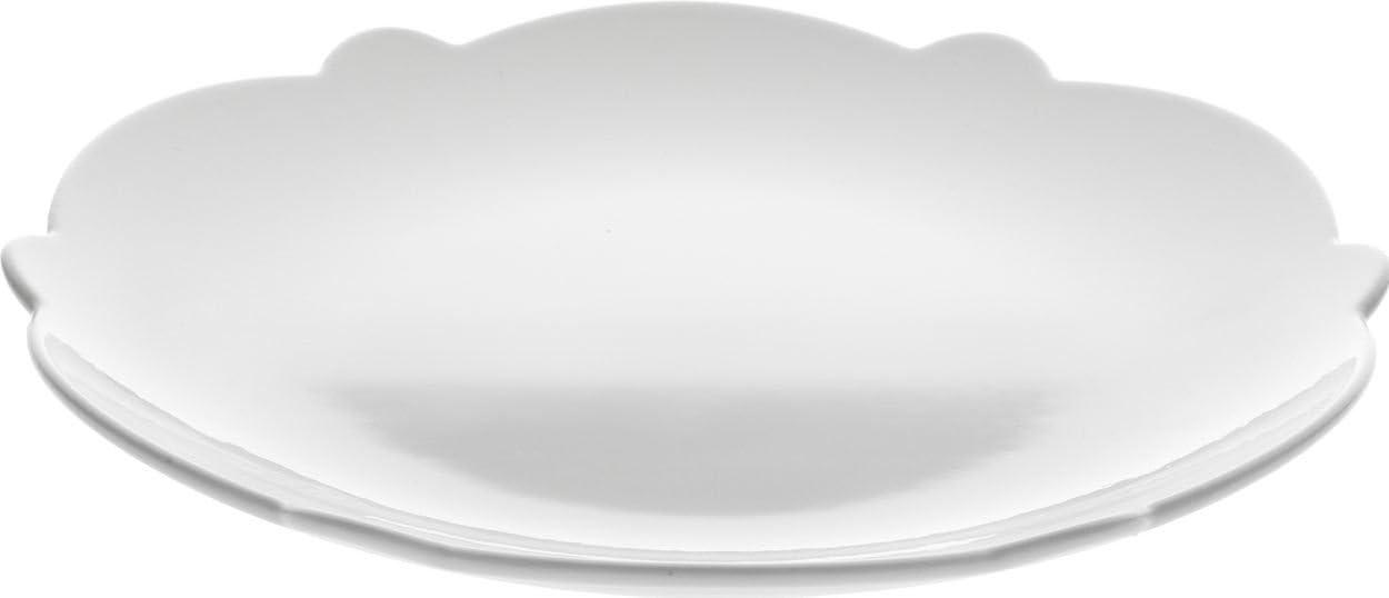 Alessi Dressed Max 66% OFF Dessert white San Francisco Mall Plate