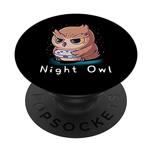 Night Buwl Entusiasta de los videojuegos Amante de los PopSockets PopGrip Intercambiable