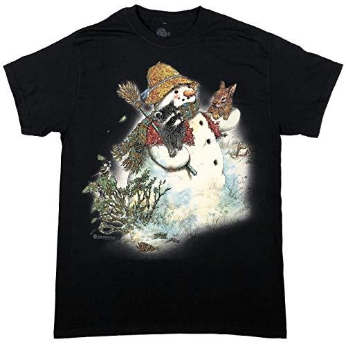 The Mountain Men's Snowman Buddies T-Shirt, Black, 3X-Large