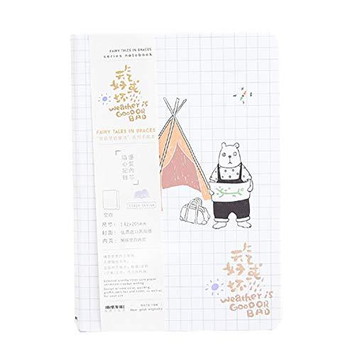 CAOLATOR Reise Tagebuch Notizbuch Zelt B?r Täglichen Notizblock Schreibblock Kladde Tagebuch Notizheft Hardcover Notizbuch
