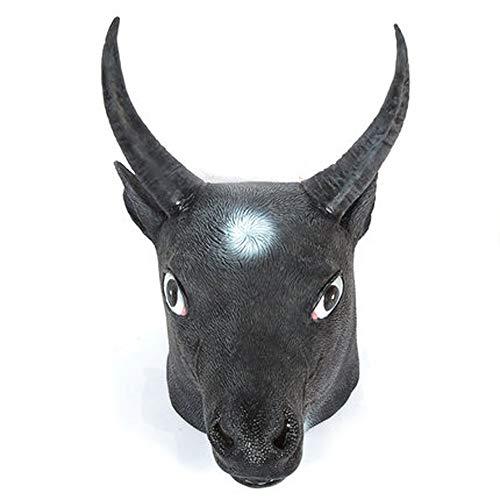 JYSD Halloween-Maske, volles Gesicht Tier Tauren-Kopf-Abdeckung Maske Hund Pferd Buffalo Latex-Maske MJJ9/28