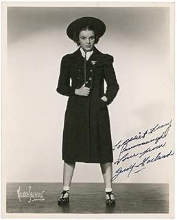 judy garland autograph