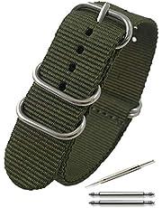 Calme(カルム)NATO ベルト 腕時計 バンド プレミアムBallisticナイロン 16㎜ ~ 24㎜ 交換説明書付き