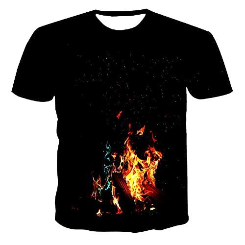 Camiseta De Manga Corta T-Shirt Verano Casual Hombres Mujeres Camiseta Moda Manga Corta Creatividad Imprimir Camisetas La Impresión 3D Casual Streetwear-62693_4XL