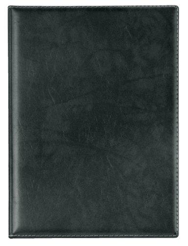 Veloflex 4441780 Urkunden-Mappe, Angebots-Mappe Exquisit DIN A4 mit Innen- Klarsichttaschen, Leder-Optik schwarz