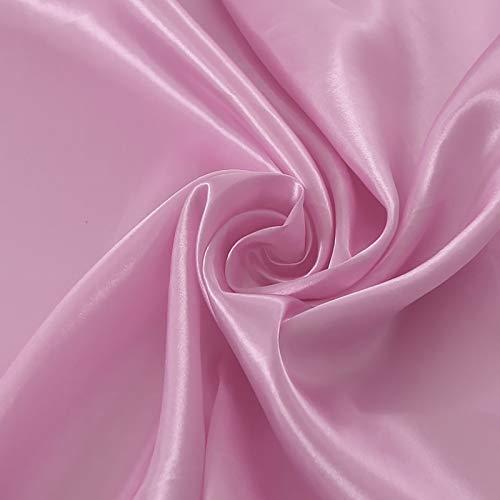 MUYUNXI Tela De Raso Forro De Tela para Vestidos De Novias Fundas Artesanas Vestidos Blusas Ropa Interior 150 Cm De Ancho Vendido por Metro(Color:Rosa Claro)