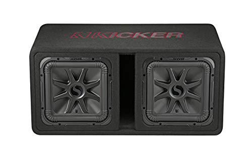 "KICKER 45DL7R122 Dual 12"" L7R 2-Ohm Loaded Vented Enclosure - 1200 Watts RMS"