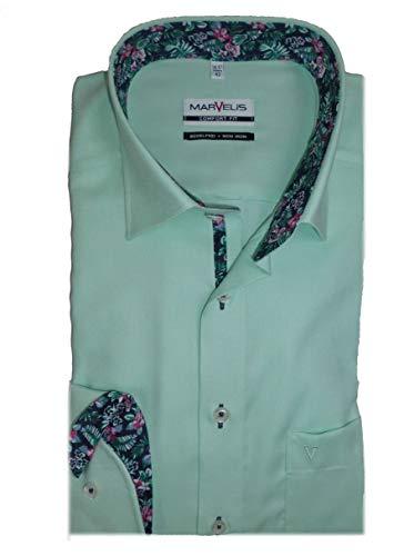 Marvelis Hemd Comfort Fit mintgrün Uni, Kragenweite/Größe:44