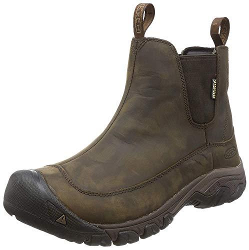 KEEN Men's Anchorage 3 Pull On Waterproof Boot, Dark Earth/Mulch, 9.5 M US