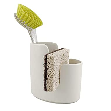 Scarlettwares Ceramic Sponge Holder Kitchen Caddy Sponge and Brush Holder Kitchen Sink Organizer
