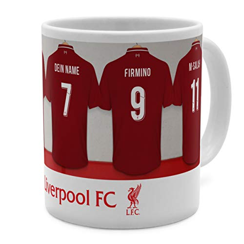 PhotoFancy Tasse Liverpool mit Namen personalisiert - Design Liverpool FC Dressing Room