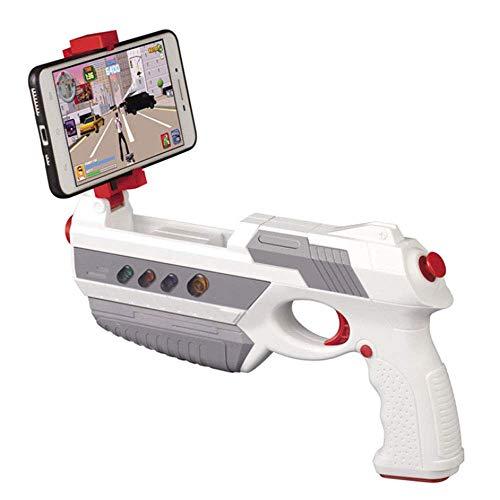 LWPCP Gioco AR Pistola per Bambini Smart Game Gun Pulsante Multifunzione Bluetooth Game Controller Regalo Giocattoli per Bambini per iOS Android