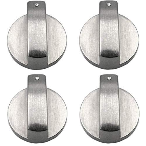 Perillas De Metal Cepillado Para Utensilios De Cocina, Un Juego De 4, Adecuadas Para Cerraduras De Control De Estufas, Estufas De Cocina, Estufas De Gas