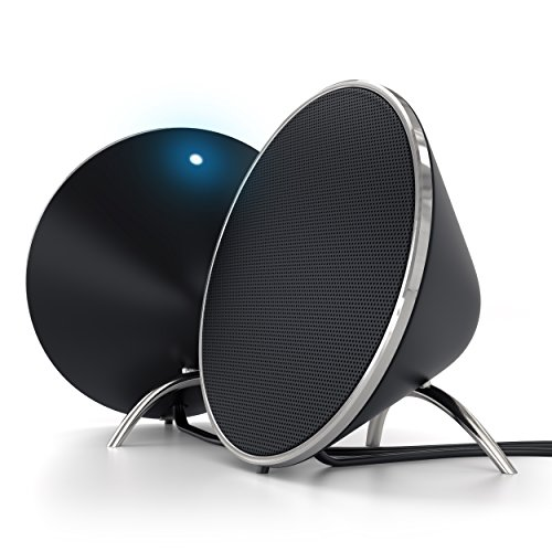 Dual Sonic Conical v2.0 Computer Speakers - Compatible with MacBook Pro/MacBook, iMac Pro/iMac, Acer, Asus, Sony, HP and More (White)