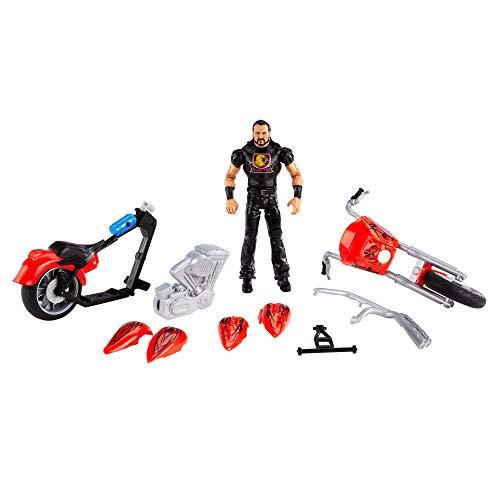 WWE Drew McIntyre con Motocicleta Destrucción Total Muñeco articulado con moto roja...