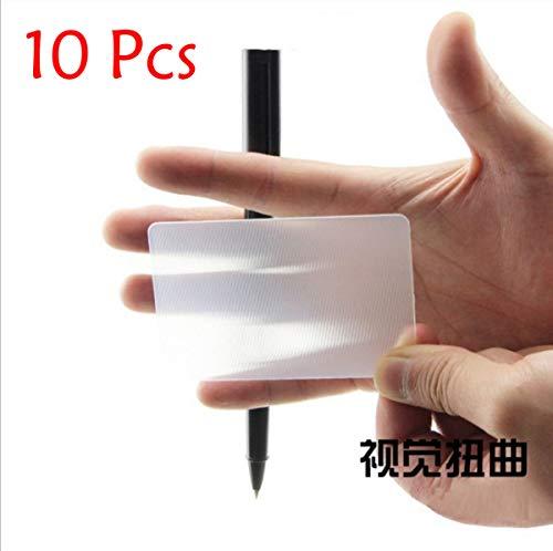 WSNMING Lens Card Illusions Magic Tricks Close up Stage Magic Gimmick Magician Toys (10Pcs Cards)