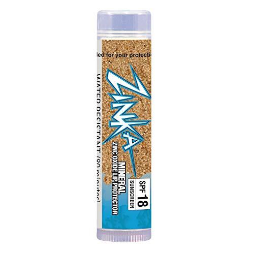 Zinka Sunscreen SPF 18 Zinc Oxide Lip Balm chapstick - Mineral