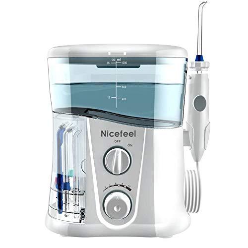 Wzz Irrigador Bucal, Agua Flossers 1000ML Agua Dental Flosser Eléctrico Oral Care...