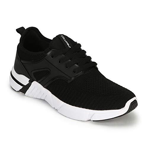 Columbus Molecule Black Mesh Running Sports Shoes