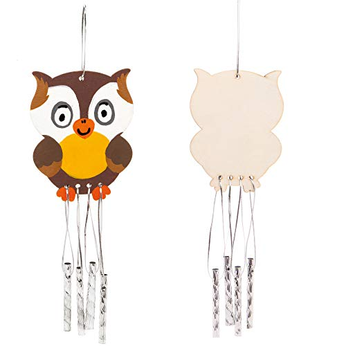 Baker Ross AW877 Woodland Animal Wooden Windchimes, Arts and Crafts for Kids (Pack of 4)