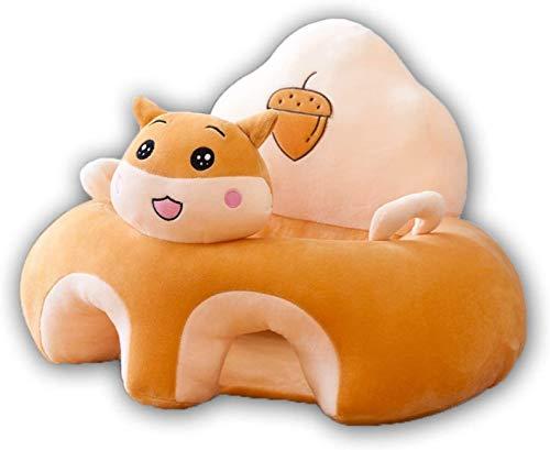 JUGUETE Silla para bebé, asiento infantil asiento de asiento de peluche con forma de animal con forma de bebé, sofá portátil, cómodo para recién nacido, 3-16 meses, sofá para niños, prevención de roll