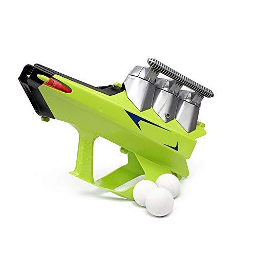 Lulalula Pistola Blaster de bolas de nieve 2 en 1 para hacer bolas de nieve y lanzador de armas de invierno para niños y adultos, plástico, Verde, L - 47x14.5x30cm