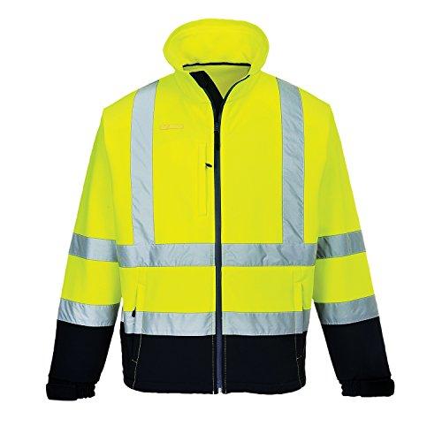 Portwest S425 – d'alerte protection Contraste Softshell (3L), 1 Pièces, L, jaune/marine, S425 ynrl