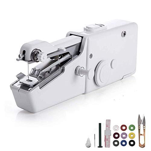 Máquina de Coser portátil for Principiantes, Mini Máquina de Coser eléctrica Handy Stitch Reparación rápida Ligero, máquina de Coser de Mano for Viajes de hogares y diversas Telas